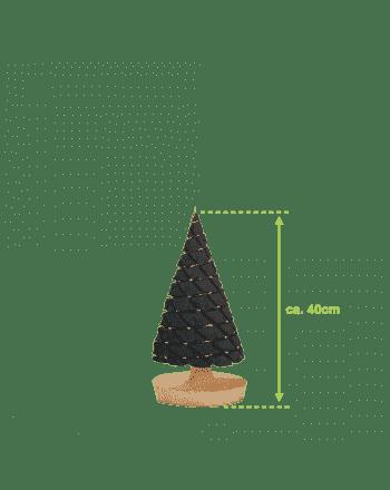 Klein antraciet kerstboompje met usb-verlichting