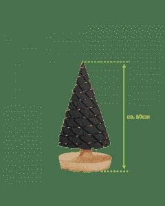 Middelgroot antraciet kerstboompje met usb-verlichting